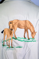 Embroidered Horse Shirt